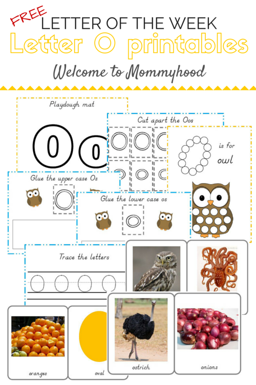 Tot Labs presents hands on letter activities for toddlers and preschoolers: Letter O printables by Welcome to Mommyhood, #preschoolactivities, #montessoriactivities, #montessori, #handsonlearning, #letteroftheweek, #lotw, #freeprintables