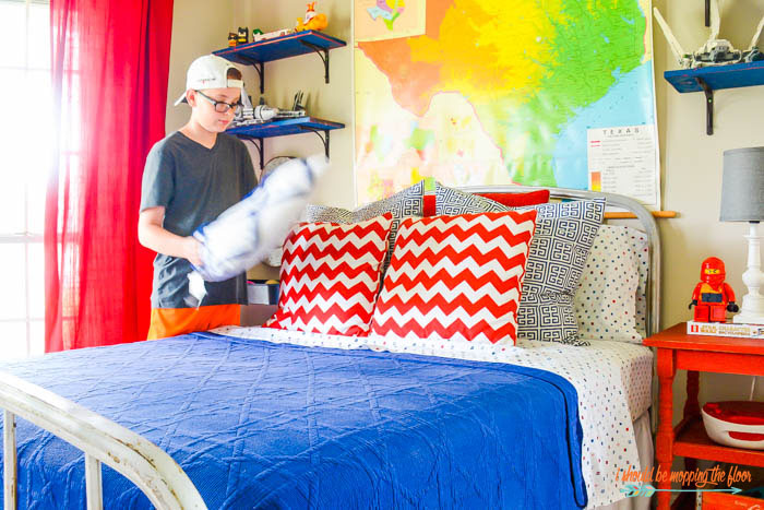 The eclectic preteen boy's room is full of all kinds of fun details and ideas!