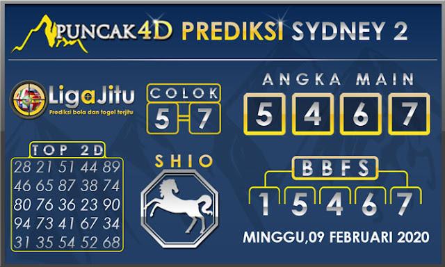 PREDIKSI TOGEL SYDNEY2 PUNCAK4D 09 FEBRUARI 2020