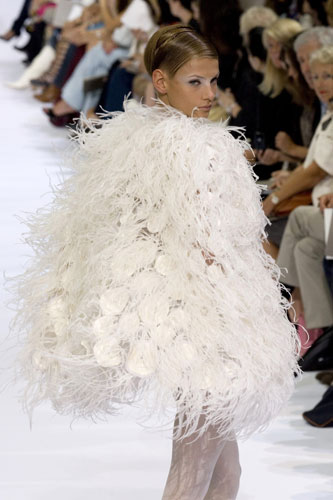 Murder Is Everywhere Behind Couture Feathers