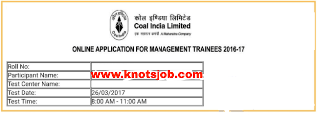Coal India Limited (CIL) Recruitment Management Trainee (MT) Electrical,Mechanical,Civil 2017 Official Question Paper With Answer Key