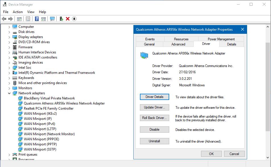 Mengatasi WiFi tidak terdeteksi, setelah selesai update build / patch Windows 10