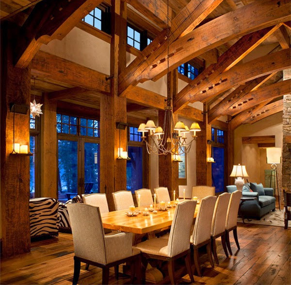 Cozy Dining Rooms: Interiors By Jacquin: Cottages, Cabins, & Cozy Winter Homes