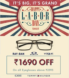 Get Rs.1690 Discount on Eyeglasses (Including Power Lenses) Min worth Rs.2595 @ Lenskart