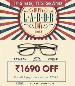 Get Rs.1690 Discount on Eyeglasses (Including Power Lenses) Min worth Rs.2595 @ Lenskart