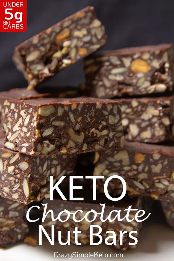 Keto Chocolate Nut Bars