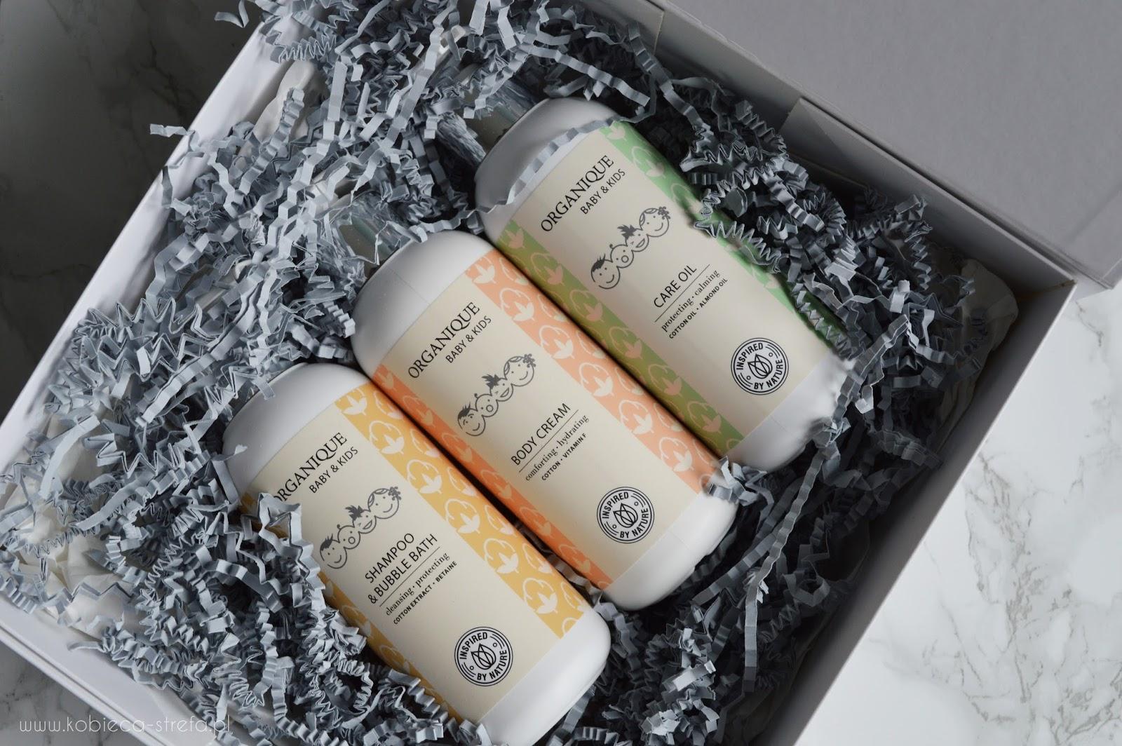 Organique Baby And Kids - szampon i płyn, olejek i krem do ciała - kosmetyki dla niemowląt i dzieci