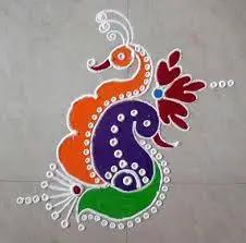twin peacock rangoli