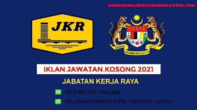 Jawatan Kerajaan Jawatan Terkini Di JKR ~ Gaji RM1,549 - RM5,684 ~ Mohon Sebelum 23 Jun 2021