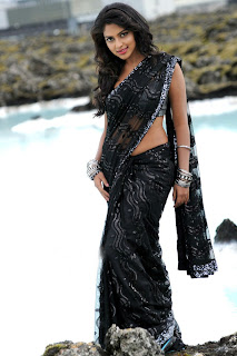 Amala Paul in Black Saree Spicy Pics