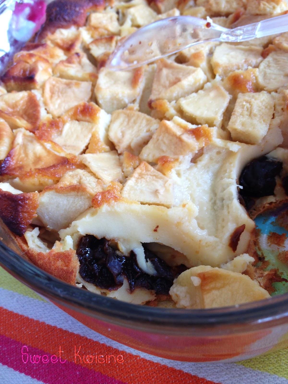 Sweet Kwisine, clafoutis, pommes, pruneaux, pudding, apple, prunes, végétarien, brunch