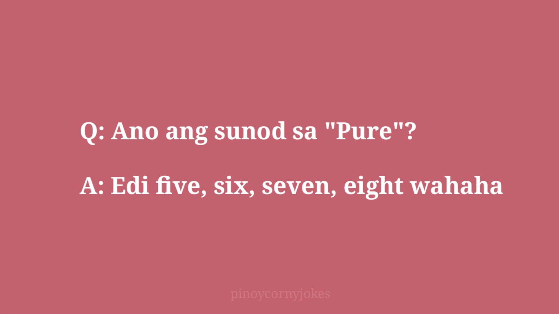 pure jokes pinoy q and a