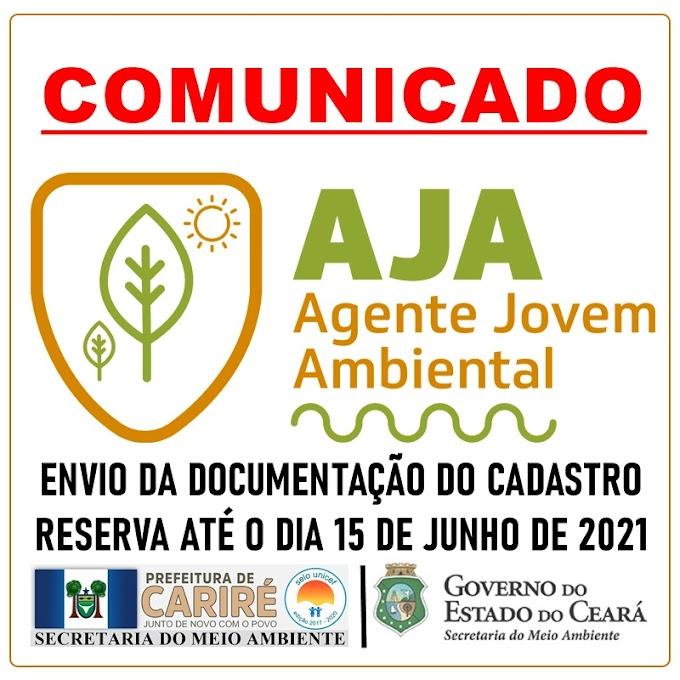 Sema do Ceará prorroga prazo para envio dos documentos do cadastro reserva do programa AJA para o dia 15 de junho