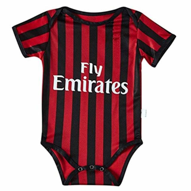 Ac Milan Baby Body Suit Red And Black Onesize