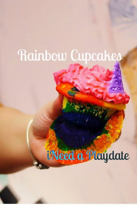 rainbow #disneyside princess cupcakes