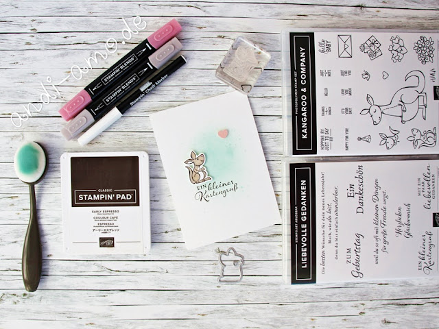 Karten gestalten mit Stampin Up Material