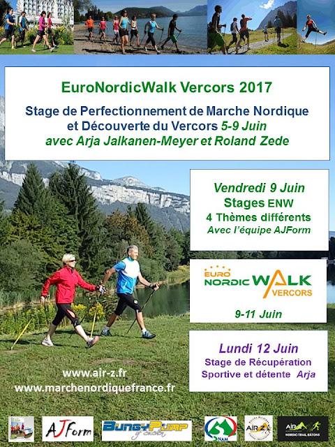 Stages de perfectionnement de Marche Nordique Euronordicwalk 2017 avec AJForm et Air-Z