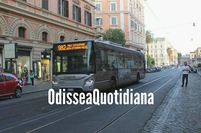 La Roma surreale di chi guida i bus
