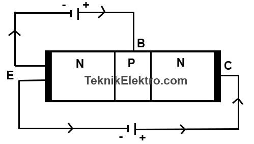cara kerja transistor bipolar BJT