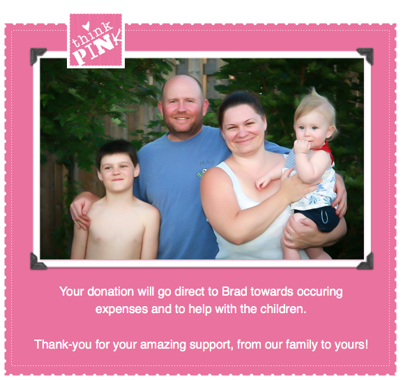 Think Pink for Cindy - Donate page - Thank-you for your support!