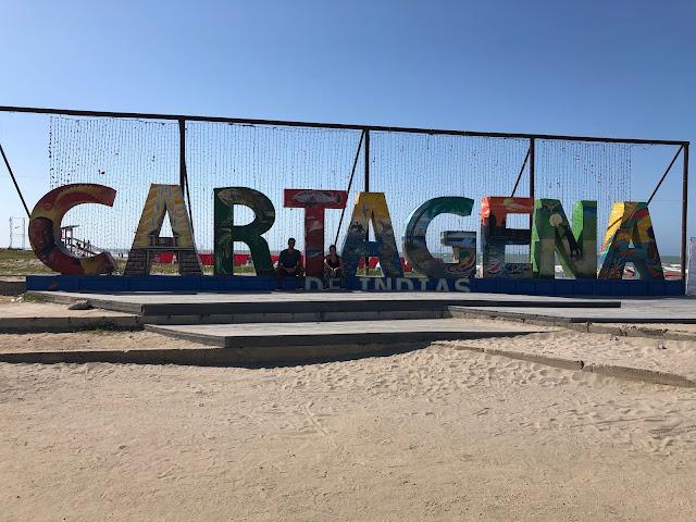 cartel de bienvenida a la ciudad de cartagena
