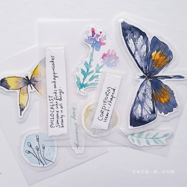 Watercolour Butterfly Stickers - for your journal or planner