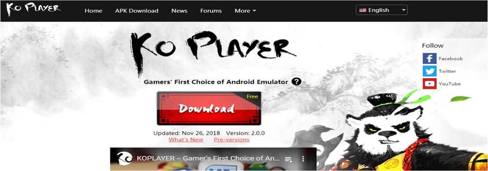Ko-player-android-emulator