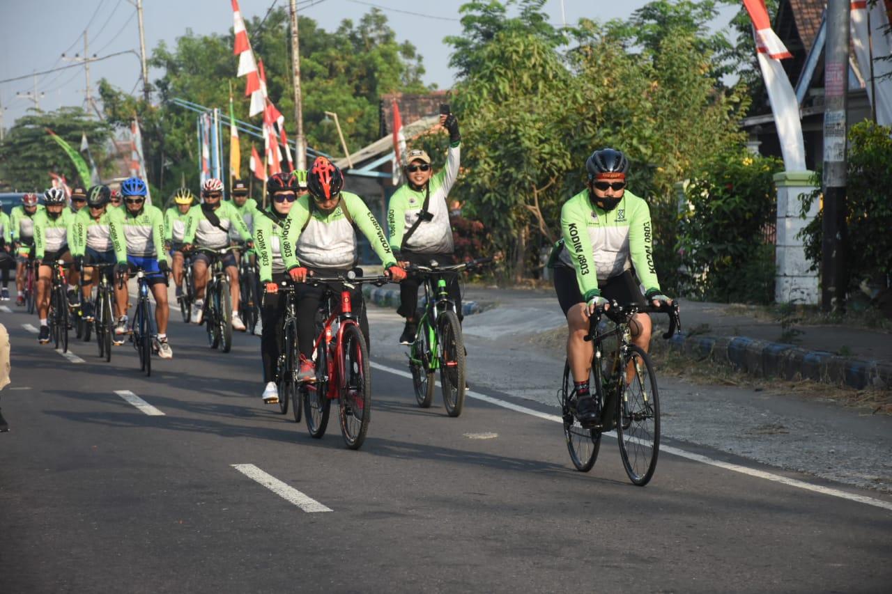 Jaga Kebugaran Tubuh, Kodim 0803 Madiun Gelar Gowes Fun Bike