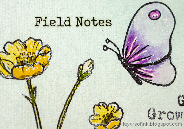 Layers of ink - Thoughtful Flowers Watercolor Garden Tutorial by Anna-Karin Evaldsson. Simon Says Stamp Thoughtful Flowers stamp set.