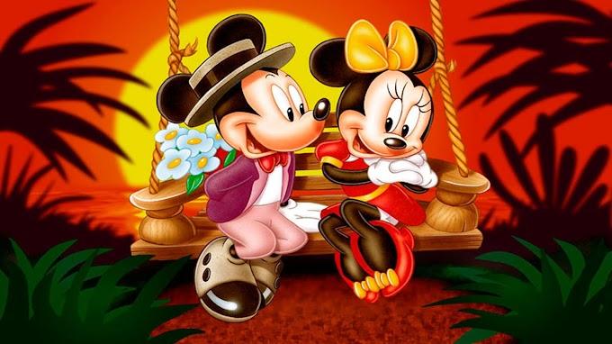 Papel de Parede Mickey e Minnie