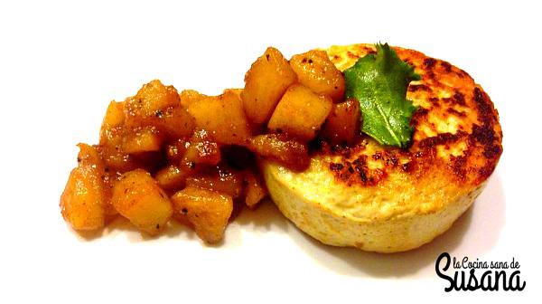 Hamburguesa sana de pollo y curry con manzana dulce-2