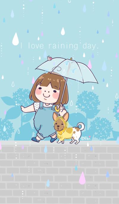 I love raining day.