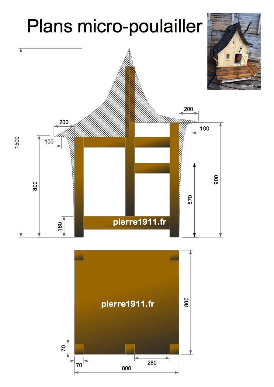 micro poulailler plan tutorial de construction. Black Bedroom Furniture Sets. Home Design Ideas