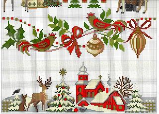Ricami per Natale a cross stitch