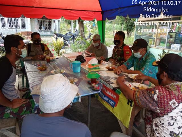 Eratkan Silaturahmi Dengan Warga Binaan, Personel Jajaran Kodim 0208/Asahan Laksanakan Komsos Dengan Masyarakat