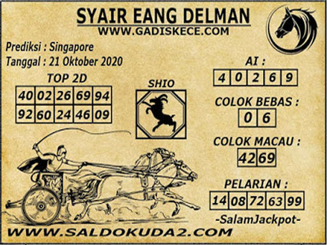 Kode syair Singapore Rabu 21 Oktober 2020 170