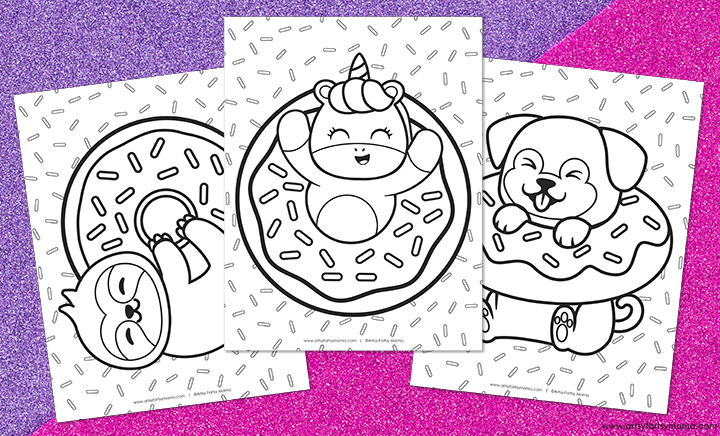 Free Printable Donut Coloring Pages