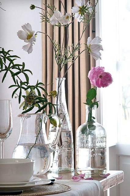 Decorate With Glass Bottles And Flowers 1