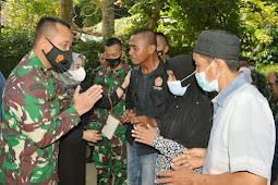 Dandim Klaten, Takziah Kerumah Prajurit Raider Dan Himbau Prokes Covid-19
