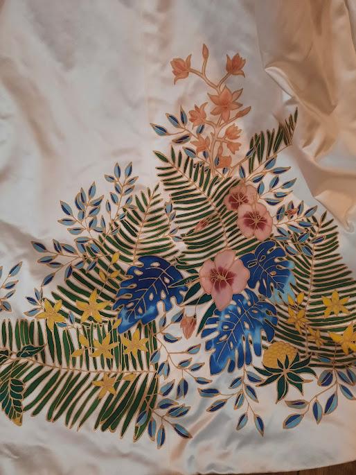 Robe de mariée thème tropical