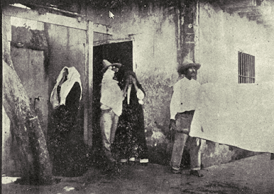 Pandemic: A victim of the plague is taken from his home in Mazatlán on a special stretcher.