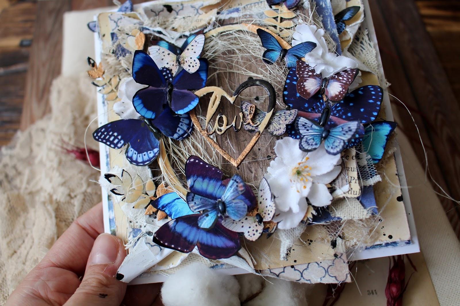 Открытка с бабочками мастер-класс