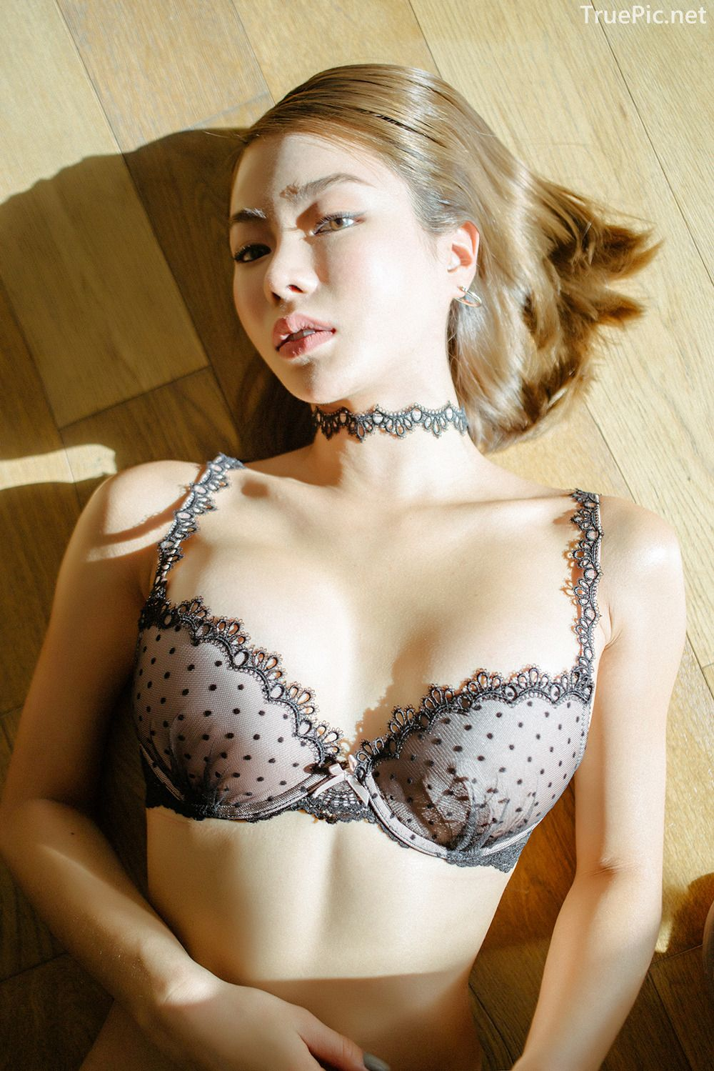 Lingerie queen An Seo Rin - Choker Lingerie Set - Korean model fashion - Picture 1