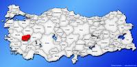 Uşak ilinin Türkiye haritasında gösterimi