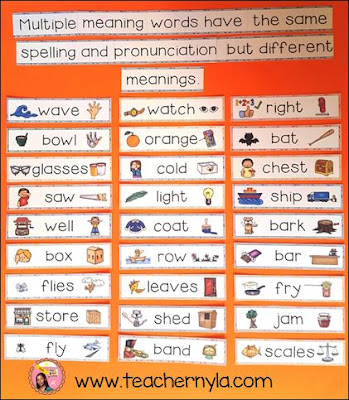 Nyla S Crafty Teaching Multiple Meaning Words Ideas For
