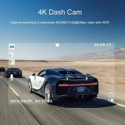 Review AWESAFE 4K UHD Dash Cam GPS Cars Camera
