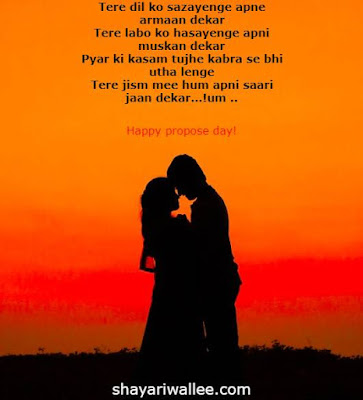 happy propose day shayari in english