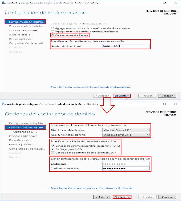Windows Server 2016: Promocionar un servidor a controlador de dominio de Active Directory. - Catálogo Global.