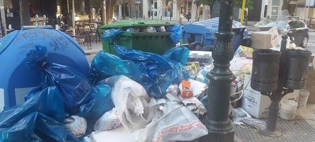 Τα σκουπίδια «έπνιξαν» και τη Θεσσαλονίκη: Χιλιάδες τόνοι στους δρόμους