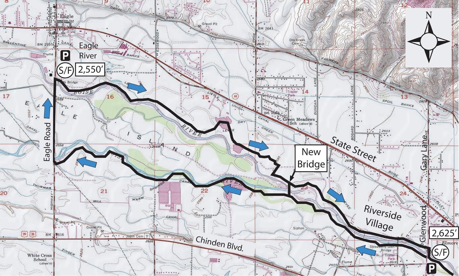 Boise Greenbelt Map Eagle Submited Images